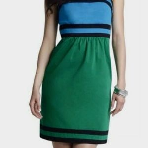 The Limited Strapless Colorblock Dress Size 10